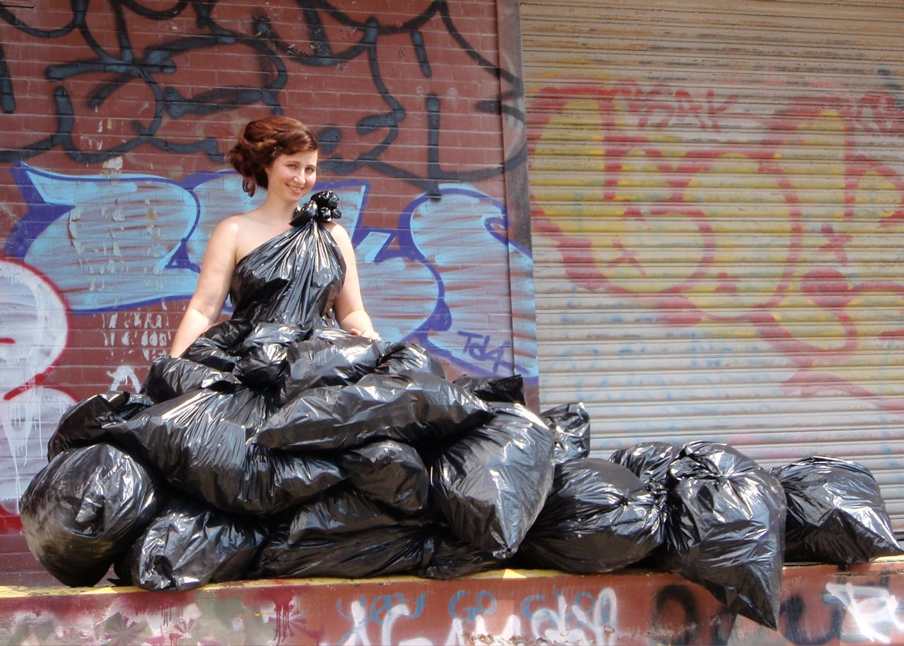 and the bride wore a garbage bag wedding dress bag And The Bride Wore a Garbage Bag